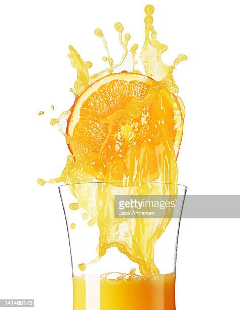 Orange Juice with Orange and Glass