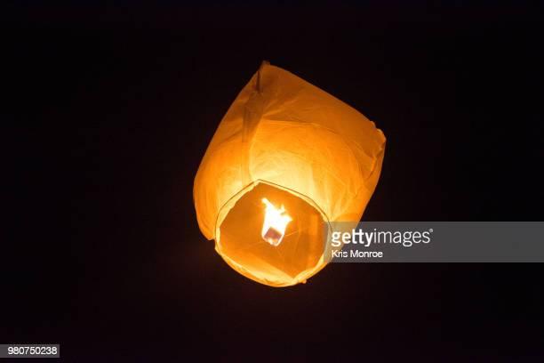 orange lantern - flame monroe stock photos and pictures