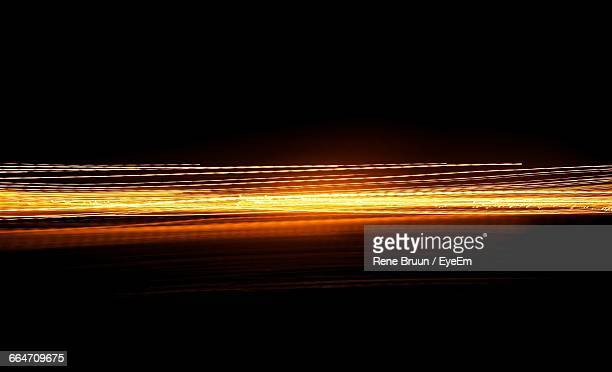 Orange Light Trails At Night