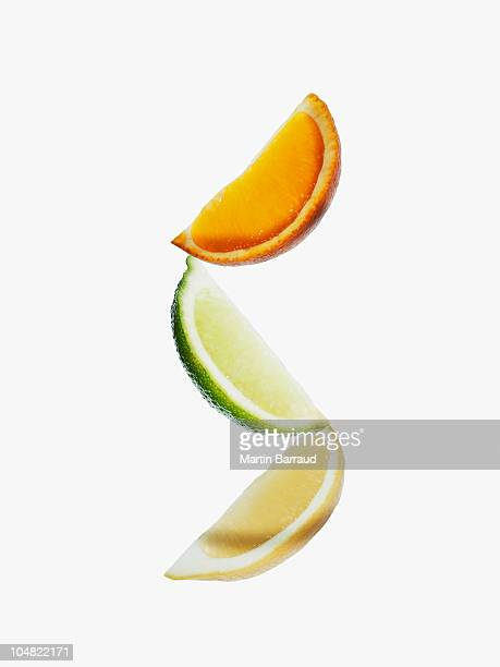 Orange, lime and lemon wedges