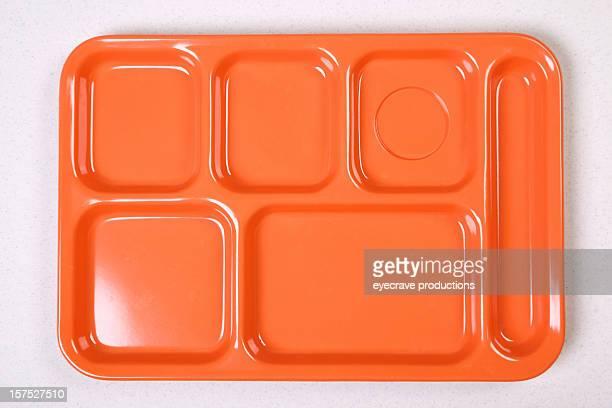 Arancio Vassoio del pranzo dieta serie
