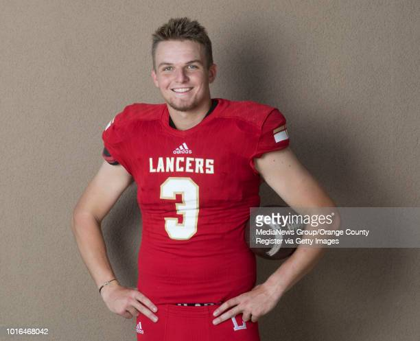 Orange Lutheran quarterback Ryan Hilinski after practice in Orange on Thursday July 12 2018 Hilinski who has committed to South Carolina is...