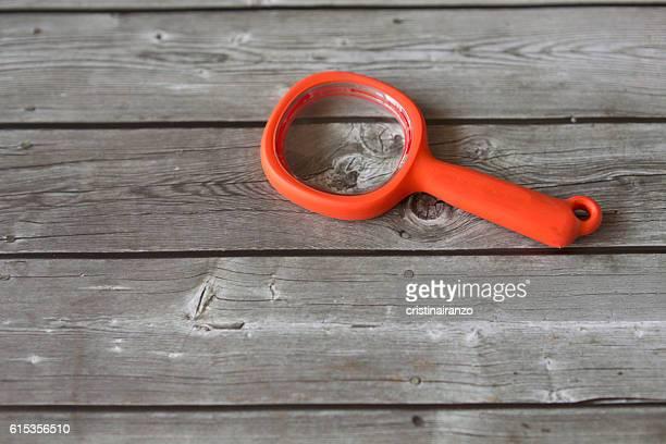 Orange magnifying glass