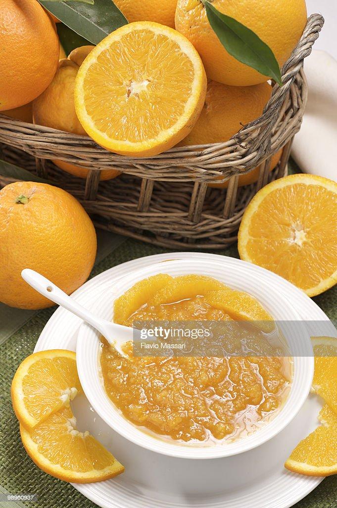 Orange marmalade : Stock Photo