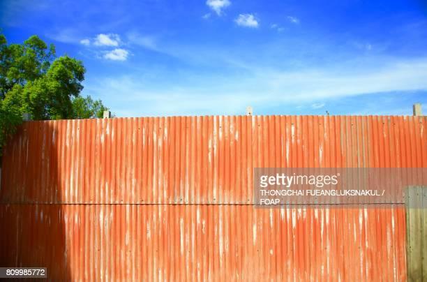 Orange metal wall