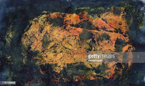 Orange Nebel Hintergrund