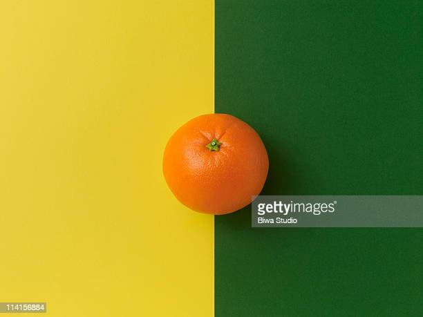 Orange on yellow&green background
