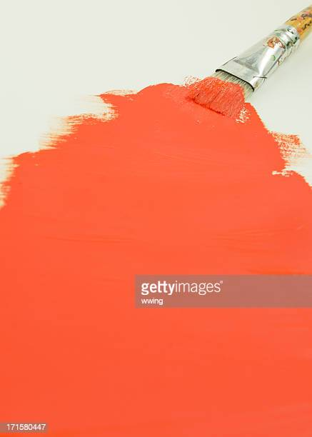 Orange Paint and Brush Background
