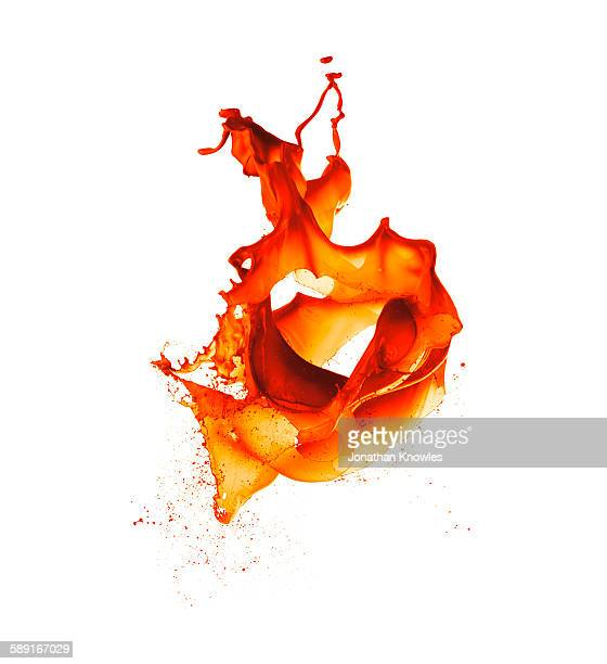 Orange Paint Splash