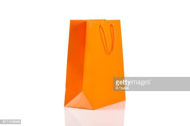 Orange paper bag