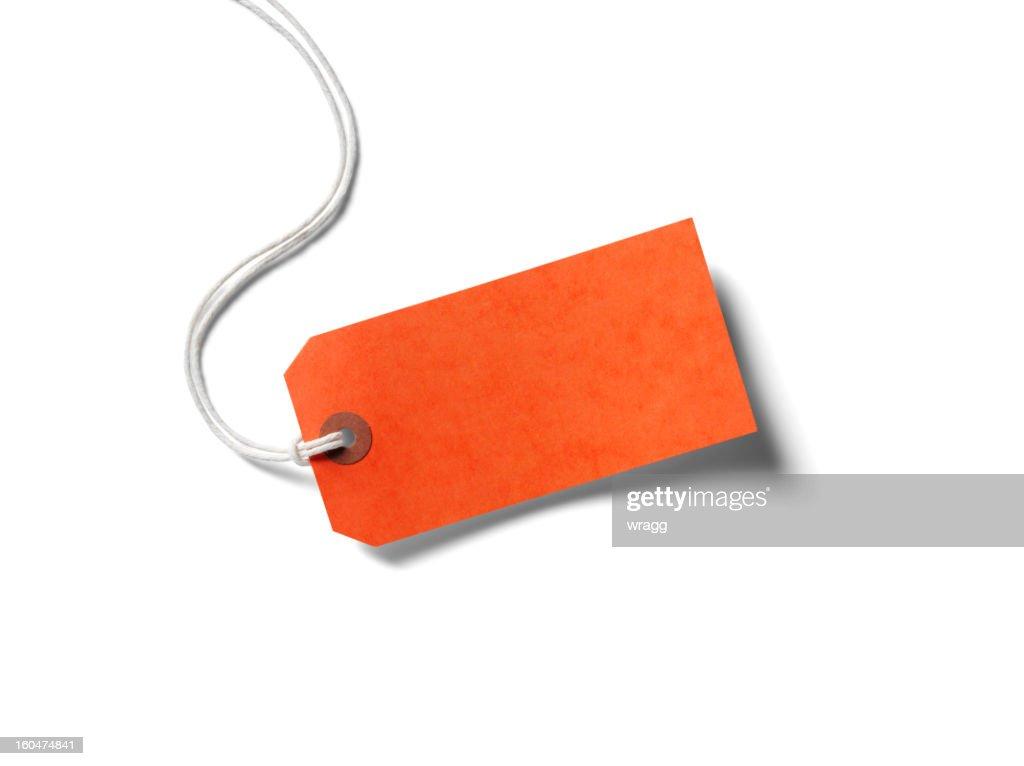 オレンジ紙のラベル : ストックフォト