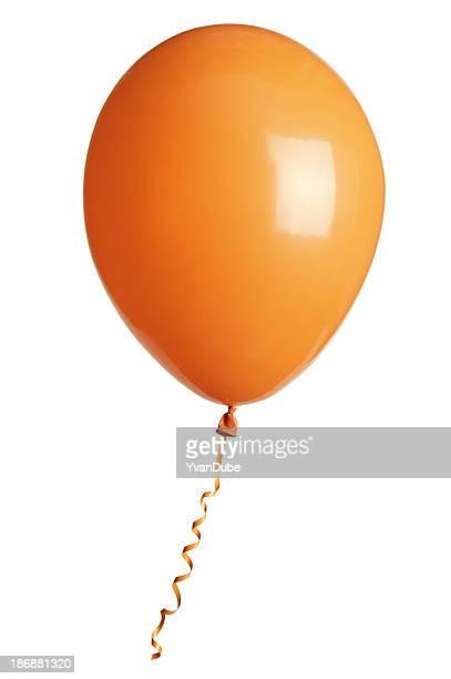 orange party Ballons, isoliert auf weiss