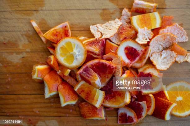 orange peel - casca de fruta - fotografias e filmes do acervo