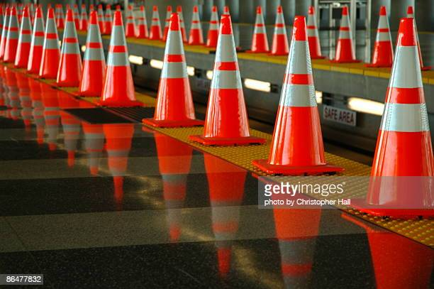 sfo orange - traffic cone stock pictures, royalty-free photos & images