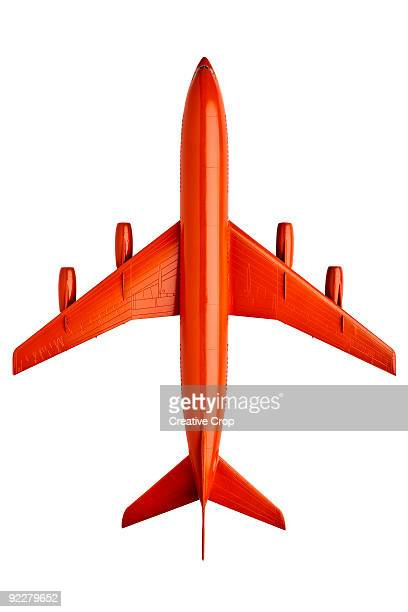 Orange plastic model of an airliner / plane