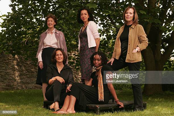 Orange Prize For Fiction nominated authors Shirley Hazzard Andrea Levy and Rose Tremain Gillian Slovo and Chimamanda Ngozi Adichie pose for a...