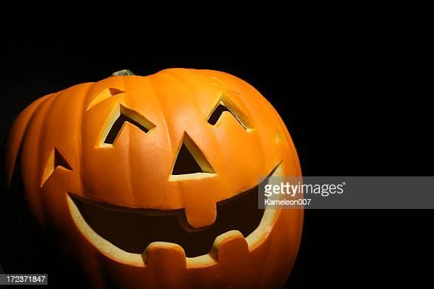Orange Pumpkin on black