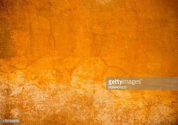 Orange Roman wall texture background, Rome Italy