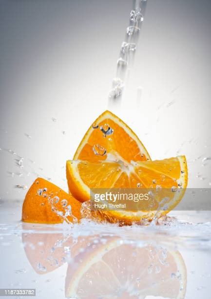 orange segments - hugh threlfall stock pictures, royalty-free photos & images