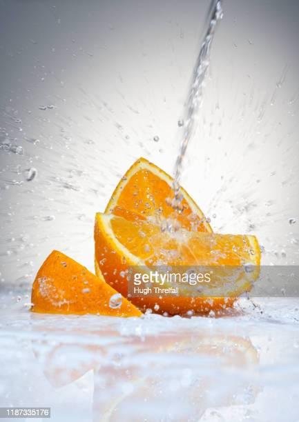 orange segments - hugh threlfall stock pictures, royalty-free photos & images