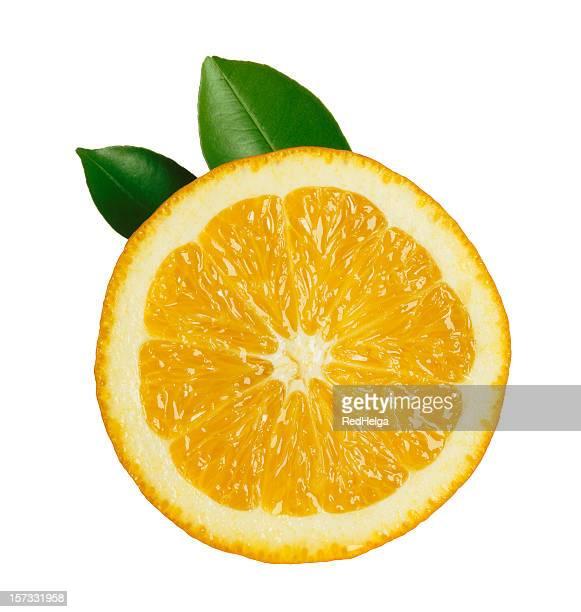 Orange Slice with Leafs