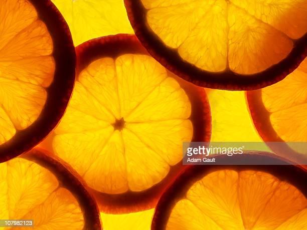 orange slices - laranja cores imagens e fotografias de stock