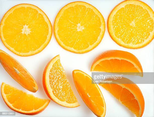orange slices - cross section stock pictures, royalty-free photos & images