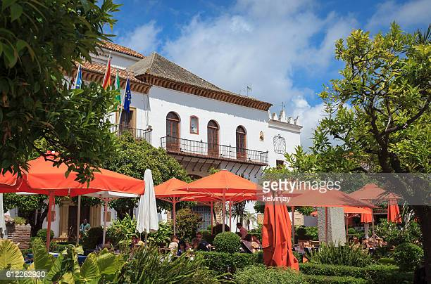 Orange Square in Marbella Old Town with bars and restaurants