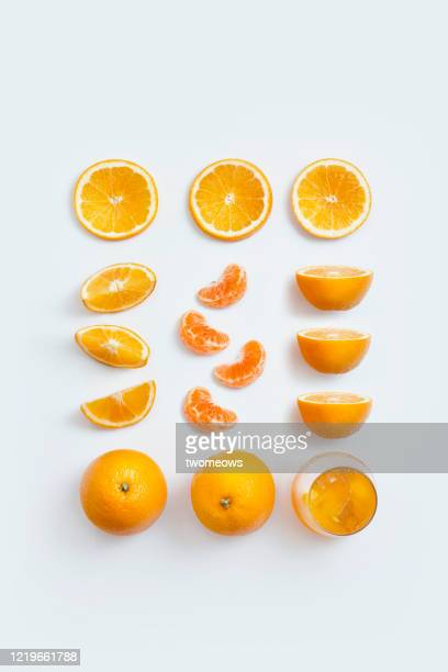orange still life image. - slice stock pictures, royalty-free photos & images