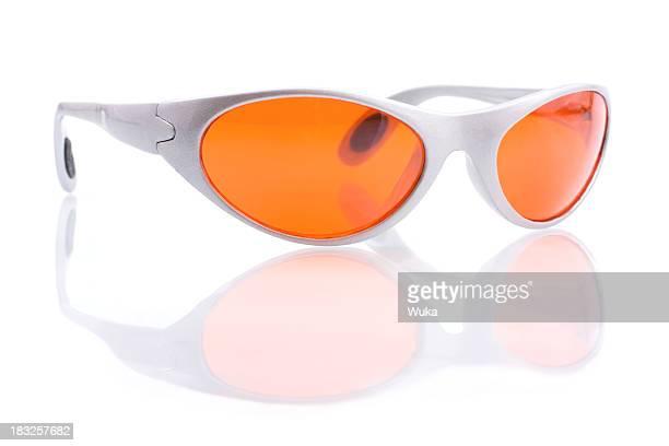 Orange-Sonnenbrille