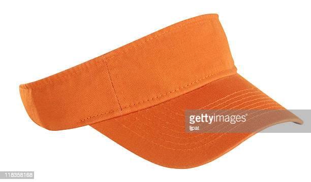 orange tennis visor - pet stockfoto's en -beelden