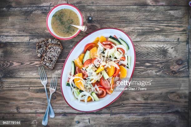 Orange, Tomato and Fennel Salad Serving Platter