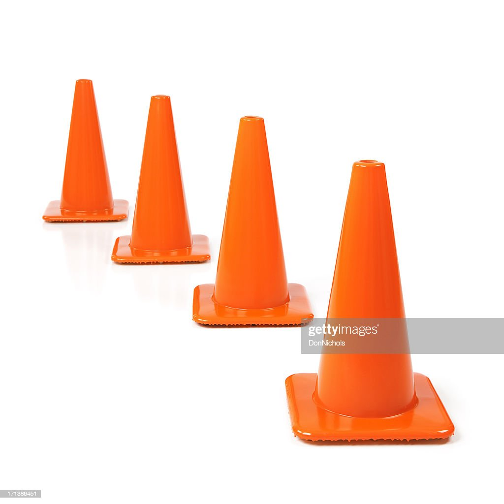 Orange Traffic Cones : Stock Photo