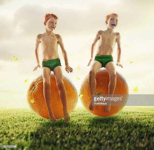 Orange lits jumeaux