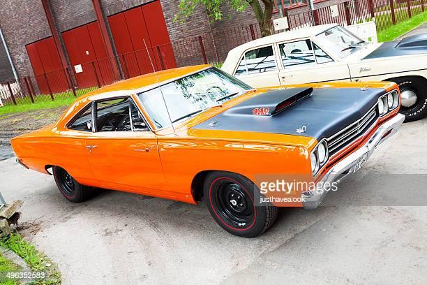 Orange US muscle car