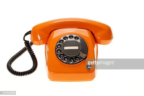 Orange vintage Telefon