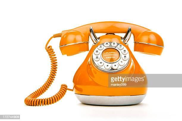 orange vintage téléphone (format XXL sur le devant