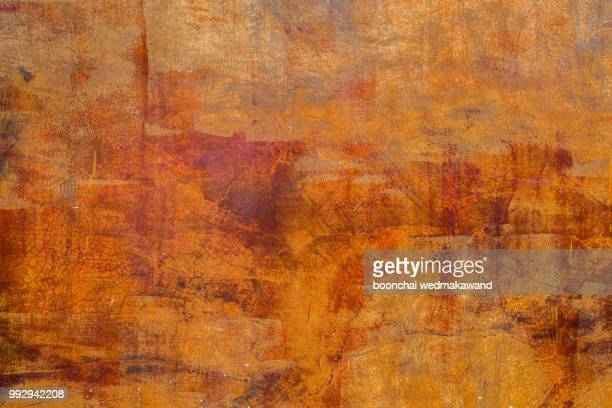 orange wall background - grunge bildtechnik stock-fotos und bilder