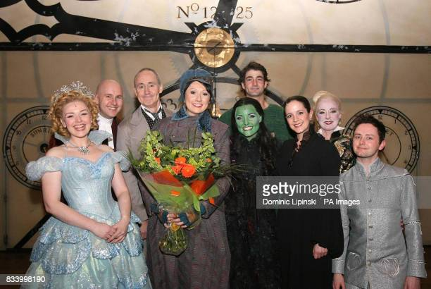 Orange 'Wannabe Wicked' competition winner Louise Henderson from Newcastle with 'Wicked' cast members Dianne Pilkington Andy Mace Nigel Planer Kerry...