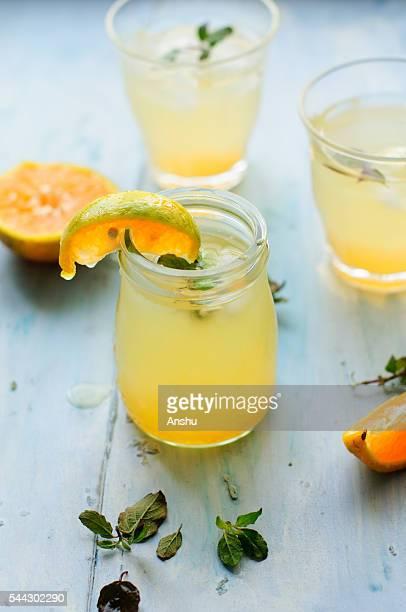 Orange Water with slices of orange