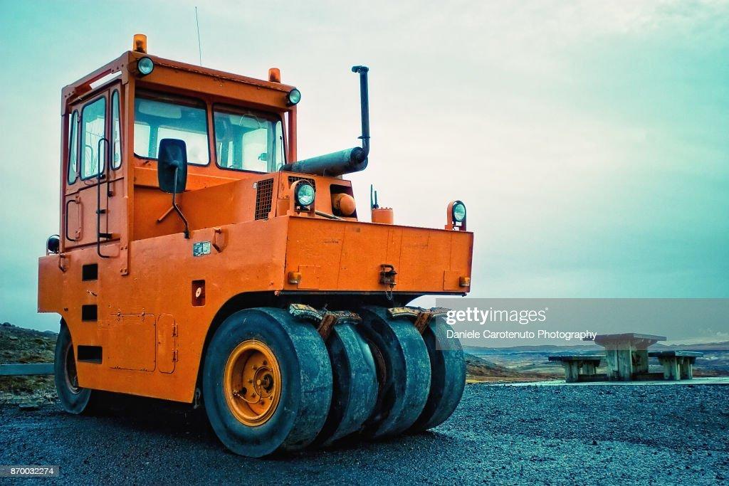 Orange Wheels : Stock Photo