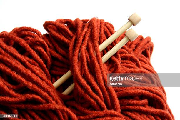 orange yarn detail