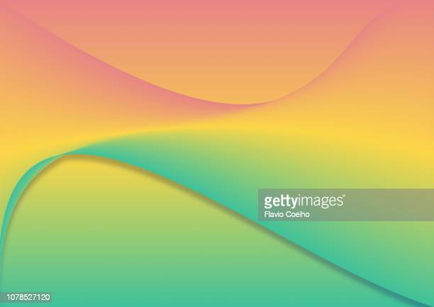 Orange, yellow and green wave background