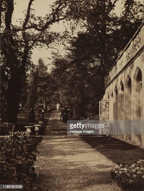 Orangery and Flower Garden at Singleton Glamorganshire 1854 Creator Martin Johnson Heade