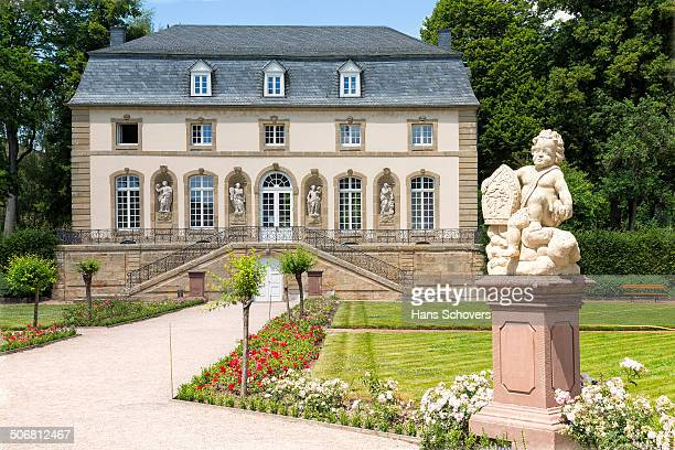 CONTENT] Orangery building in Echternach Luxembourg The garden called the Orangery It was built in the 1700s The basilica from the Orangery the...