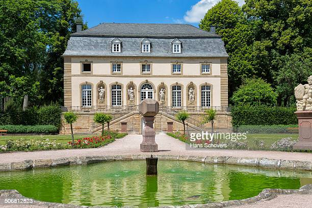 CONTENT] Orangery building with water basin the basilica from the Orangery landscaping by architect Leopold Durand