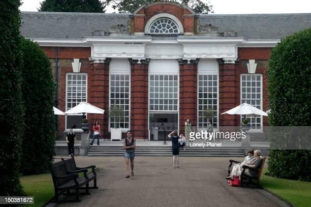 Orangery cafe at Kensington Palace.