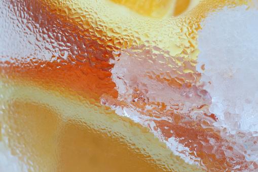 Oranges and ice, freshness illustrated. - gettyimageskorea