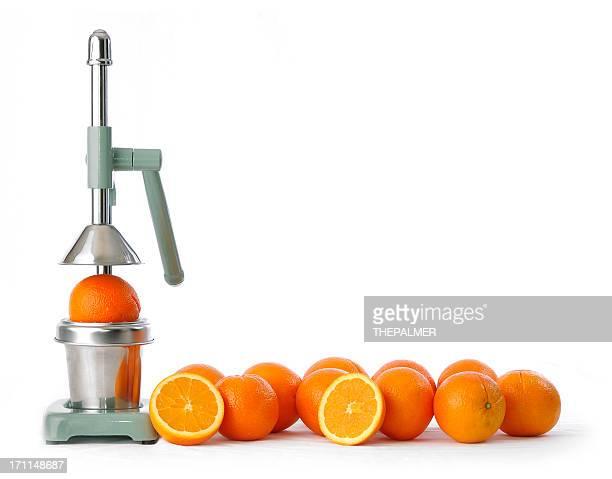 Orangen und squeezer