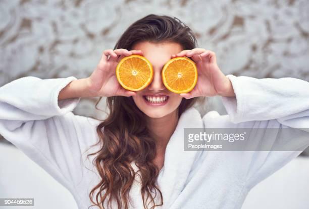 Orangen sind hier zu erhellen den Tag!